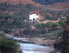 View of Satevo's 'Lost Cathedral', near Batopilas